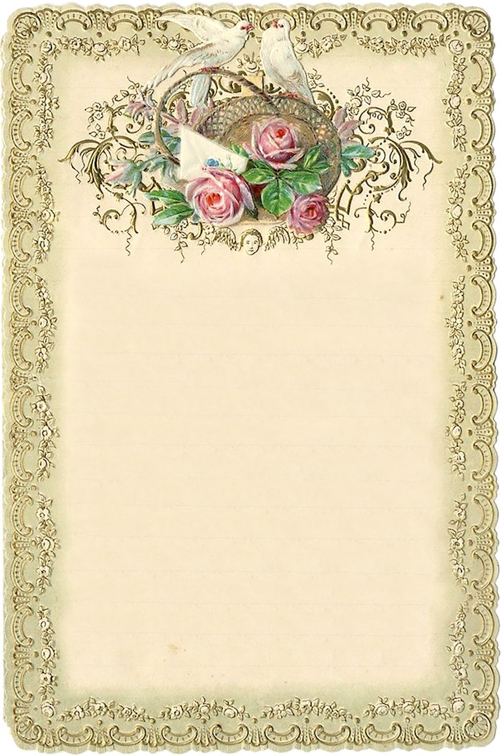 Wings of Whimsy: 1899 Romantic Journal Card