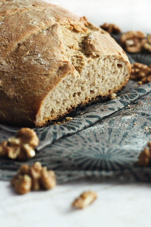 Rustic Wheat Date & Walnut Bread