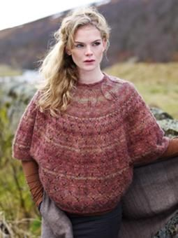 This stunning sweater has mid length sleeves and has been designed by Marie Wallin using Colourspun.