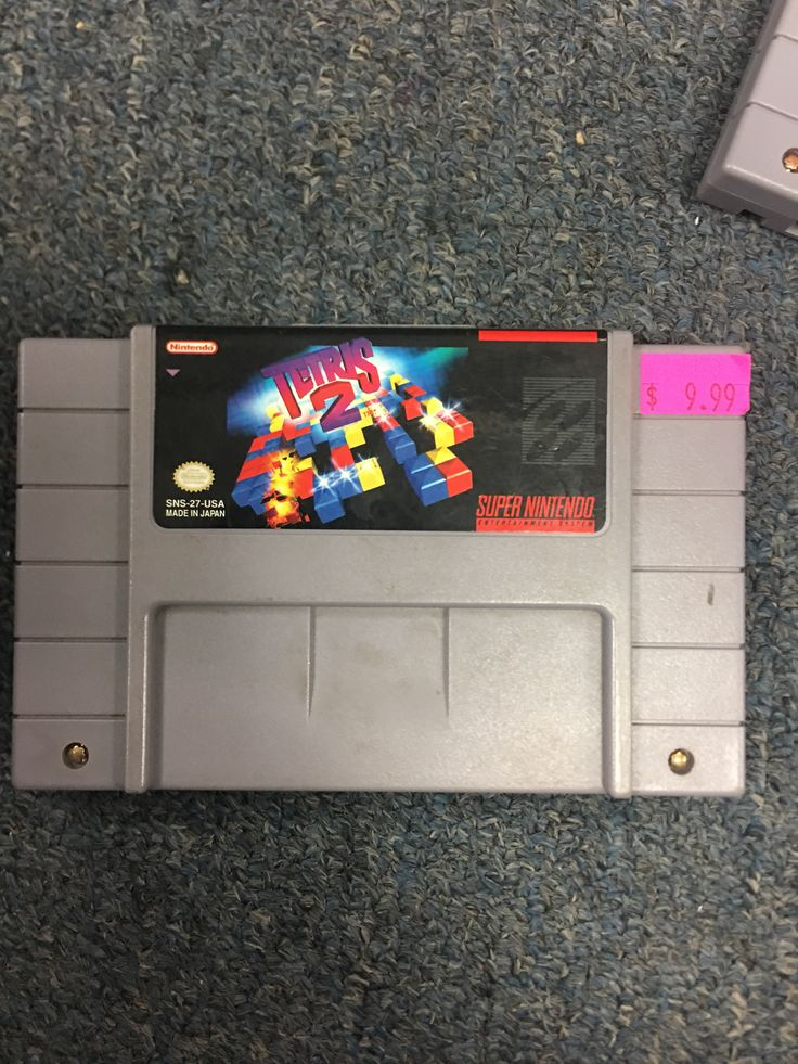 Super Nintendo SNES Tetris 2