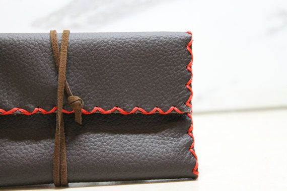 handmade leather tobacco pouch by ADAMSBRO3 on Etsy