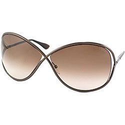 @Overstock - Cool, chic style defines these shiny bronze metal 'Miranda' sunglasses from Tom Ford. The brown gradient lenses offer 100-percent UV protection.http://www.overstock.com/Clothing-Shoes/Tom-Ford-Miranda-36F-Shiny-Bronze-Metal-Sunglasses/6751484/product.html?CID=214117 $228.99