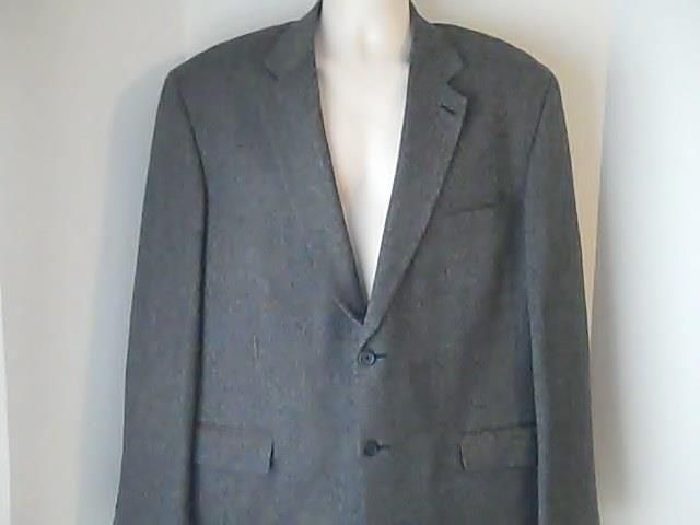Oscar De La Renta 42 L Gray Sports Coat Jacket  Wool Cashmere Nylon #OscarDeLaRenta #TwoButton