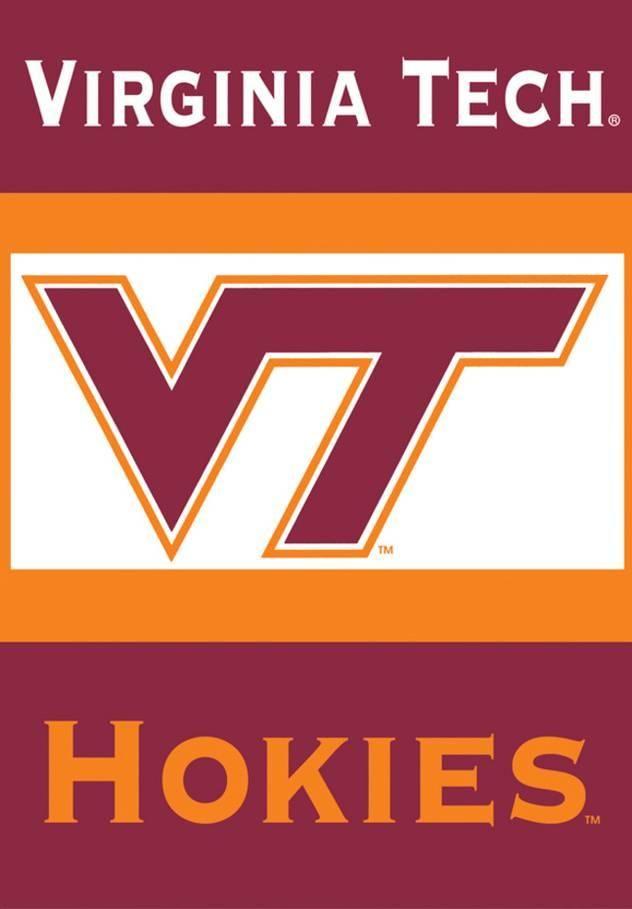 NCAA Virginia Tech Hokies 2-Sided House Banner Sports Flag