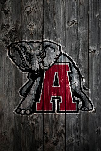Alabama Crimson Tide Alternate Logo Wood iPhone 4 Background by anonymous6237, via Flickr