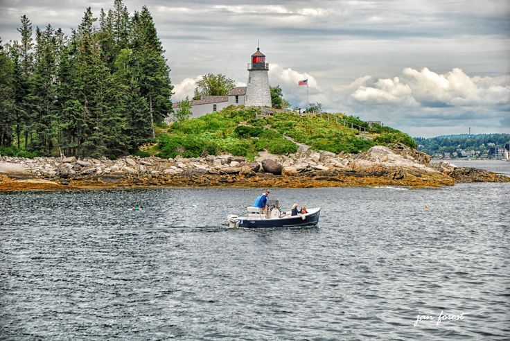 Burnt Island Lighthouse, located in Boothbay Harbor, Maine and was built in 1821.