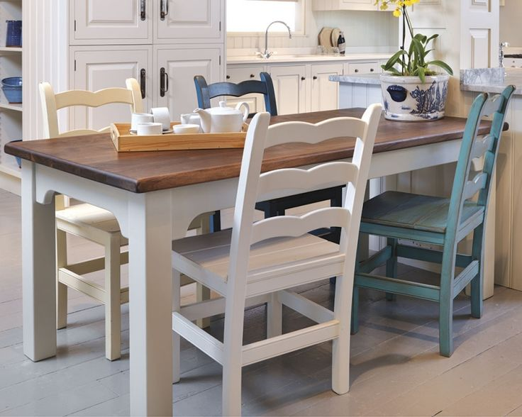We make attractive  durable tables for kitchens and dining rooms  Our  handmade tables have solid wood tops in oak  maple and pine with hand  painted bases139 best Painted Dining Set images on Pinterest   Dining set  . Hand Painted Dining Table And Chairs. Home Design Ideas