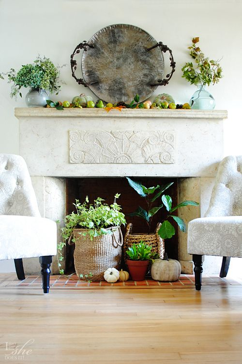 Decorating Ideas > Meer Dan 1000 Ideen Over Unused Fireplace Op Pinterest  ~ 160712_Empty Fireplace Decorating Ideas