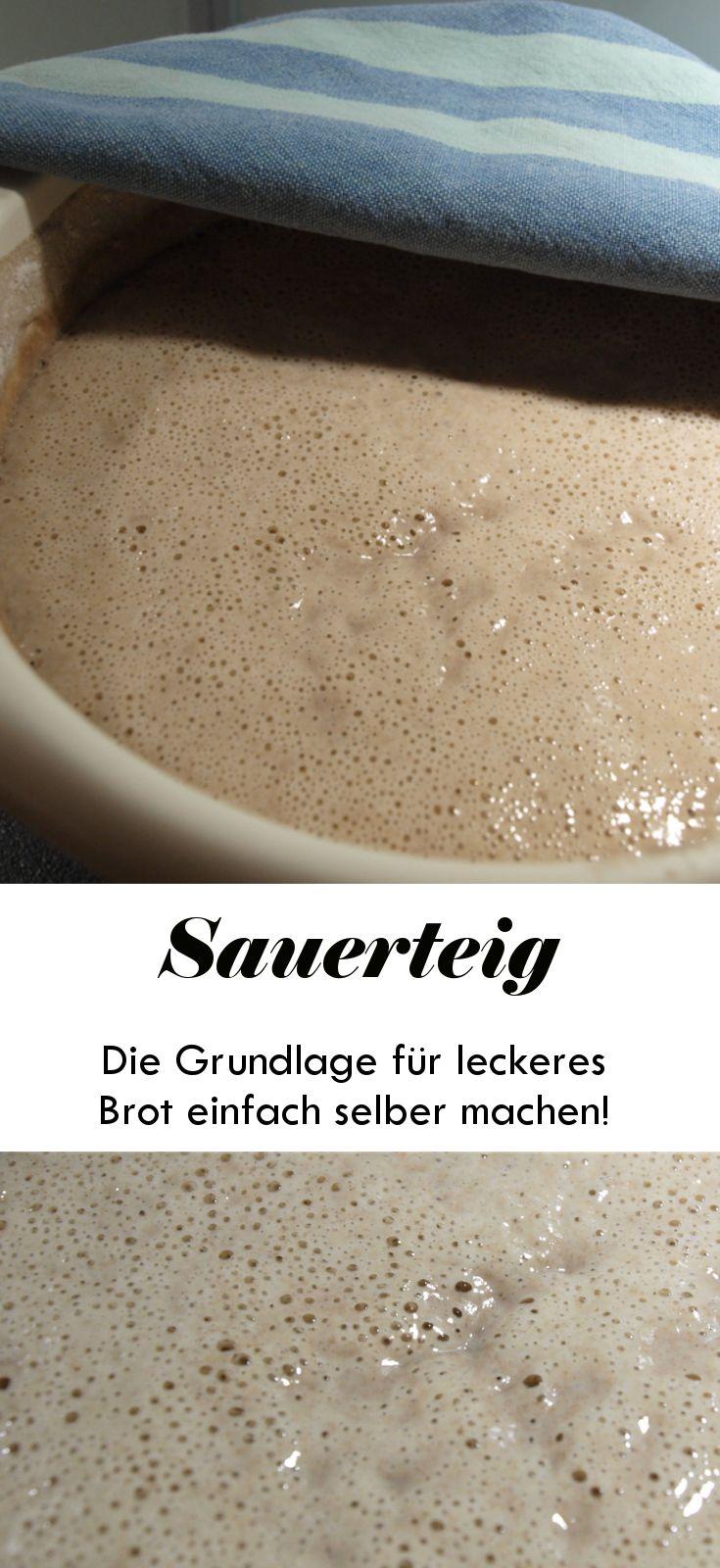 Faszinierend, wie einfach du aus Mehl und Wasser selbst einen Sauerteig herstellen kannst!  #Sauerteig #brotbacken