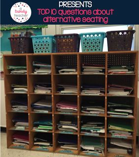 Alternative Classroom Seating - Part 2  Where do students keep all their stuff?!