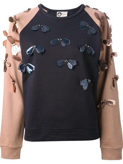 Lanvin Embellished Floral Sweatshirt #genteroma #floral #daydream