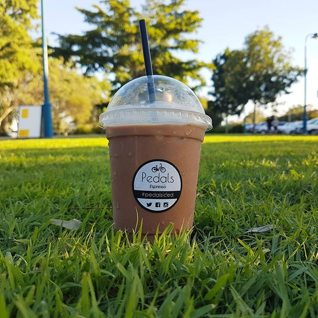 So ready for one of these this morning! Mmmm Iced Mocha ... delightful :) #pedalsespresso #bikingbarista #baristalife #bicyclecoffeecart #coffee #coffeelover #espresso #mocha #weather #happy #love #delicious #frasercoast_eats #beautiful #morning