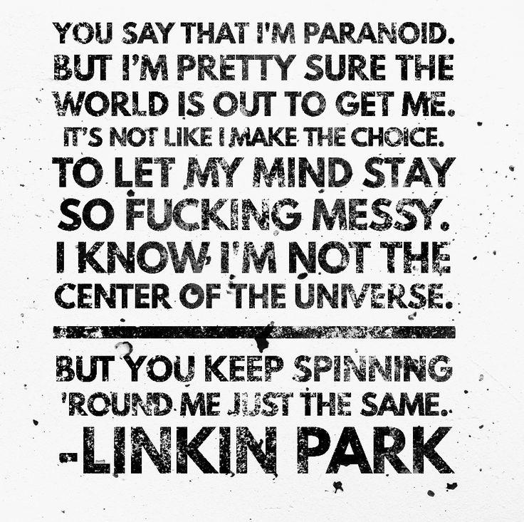 """Linkin Park • Heavy (Ft. Kiiara) // [...] """"O mundo está aí fora para me pegar, não é como se eu tivesse escolha."""" [...]"""