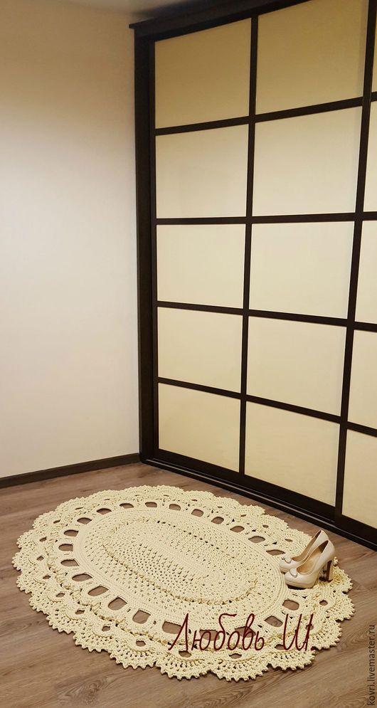 Текстиль, ковры ручной работы. Ярмарка Мастеров - ручная работа. Купить Овальный ковер Изысканный. Handmade. Белый, ковер из шнура