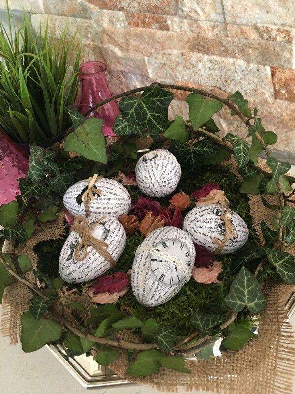 """Uova decorate """" Il cuore crea """" by M. Beatrice"""