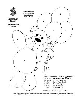 Free Stained Glass Pattern 2073-Balooney Bear