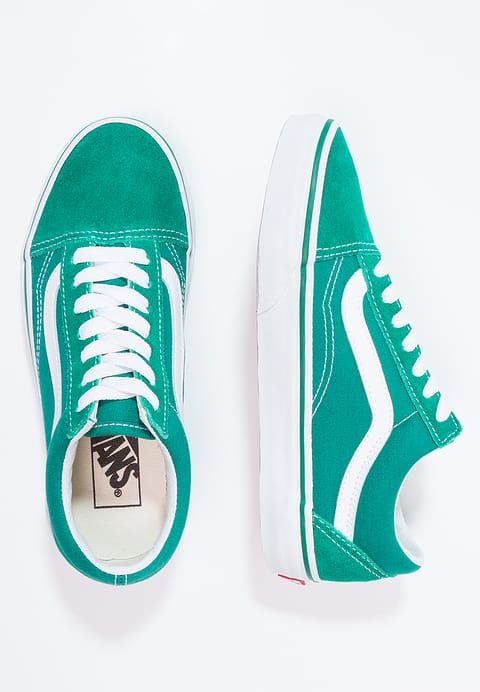 Vans OLD SKOOL - Baskets basses - ultramarine green/true white - ZALANDO.FR