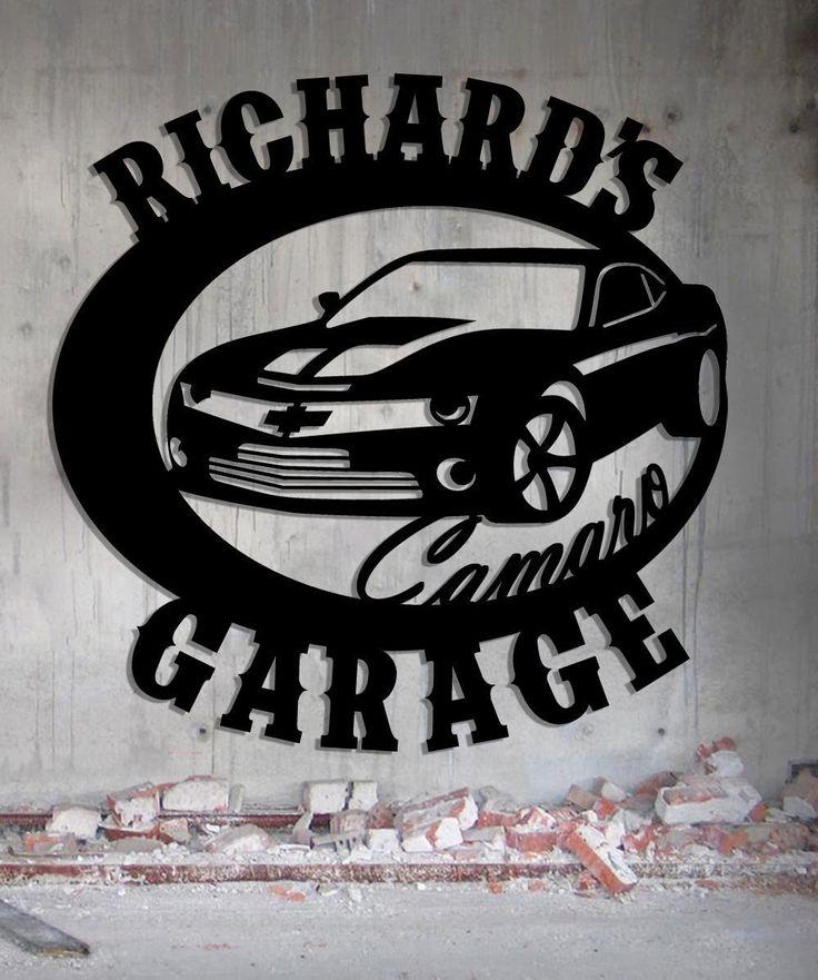 Camaro Garage - Personalized Metal Sign - Metal Wall Art - Customize It - Made In USA Great Gift!
