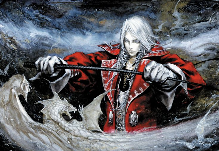Juste Belmont. Castlevania art by Ayami Kojima (a Japanese game and concept artist who is best known for her work on the Castlevania series of video games with Konami)