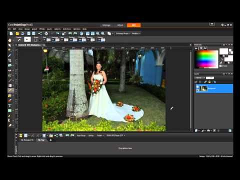 Removing Unwanted Objects in PaintShop Pro X5 - YouTube
