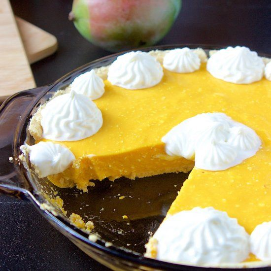 This no-bake mango pie is deliciously full of mango flavor and is so easy to make.