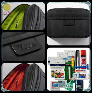 The Groom and Groomsmen Wedding Survival Kit has useful items that will come in handy for the groom before, during, and after the wedding. It comes in a