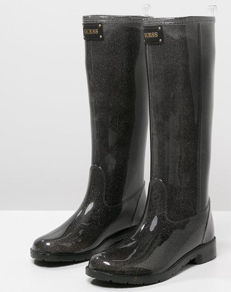 Bottes de pluie femme Zalando, craquez sur les Guess RIBBY Bottes en caoutchouc black prix