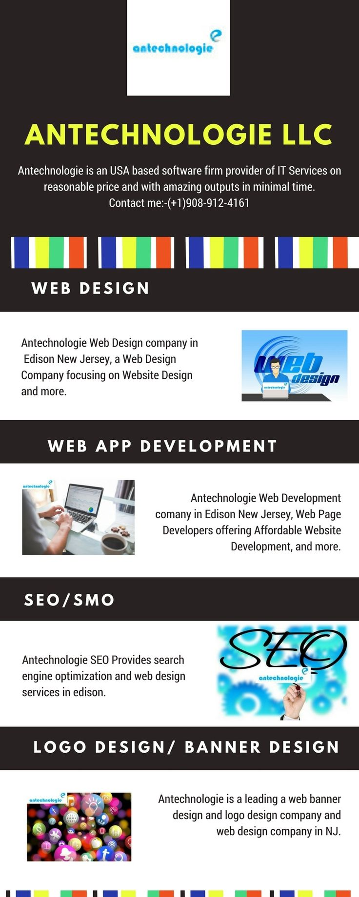 Antechnologie is a web design and web development ,logo deisgn company in Edison .Contact now:- (+1)908-912-4161 .Get more information visit the website:- www.antechnologie.com