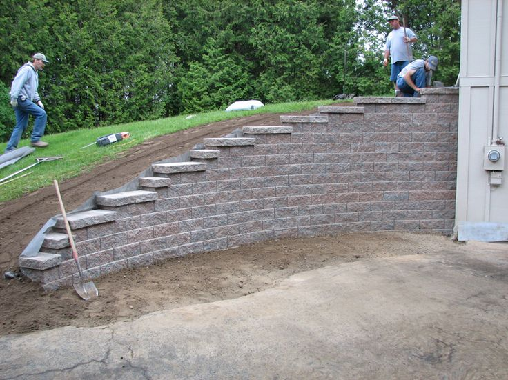 Retaining Wall Blocks Design retaining wall with mountain view Landscaping Retaining Walls Pictures Ideas Design Ideas Decors