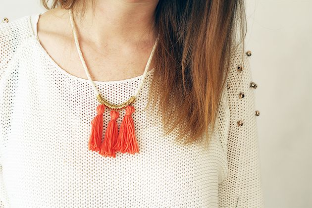 Tassel necklace DIYProjects, Crafts Ideas, Inspiration, Diy Necklaces, Diy Tassels, Rings Tassels, Necklaces Diy, Diy Rings, Tassels Necklaces