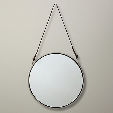 Buy John Lewis Round Hanging Mirror, Nickel, Dia.30cm Online at johnlewis.com