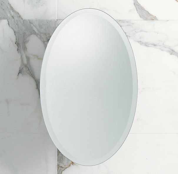 Frameless Oval Pivot Mirror 215 X 36