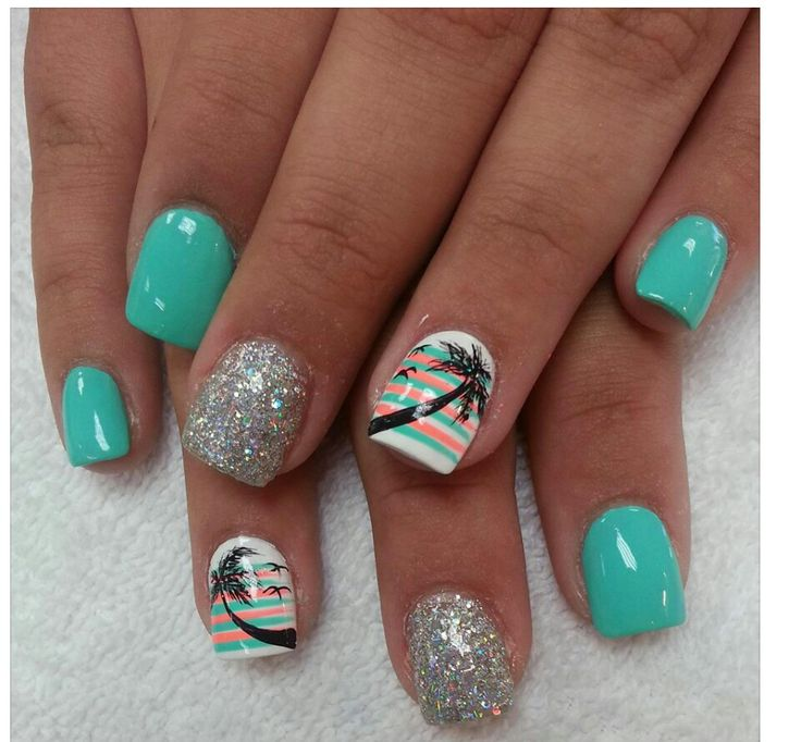 Gel Nail Design Miami: 1000+ Images About Beach Nails On Pinterest