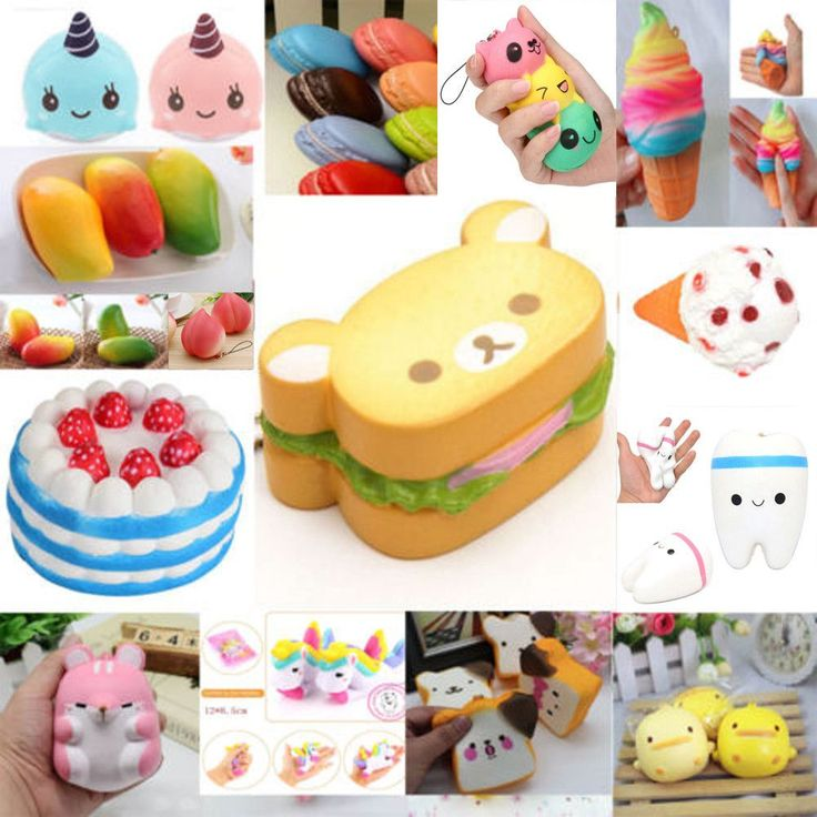 Jumbo Squishy Soft Slow Rising Squeeze Stress Relief Toy Set For Kids Gift Lot