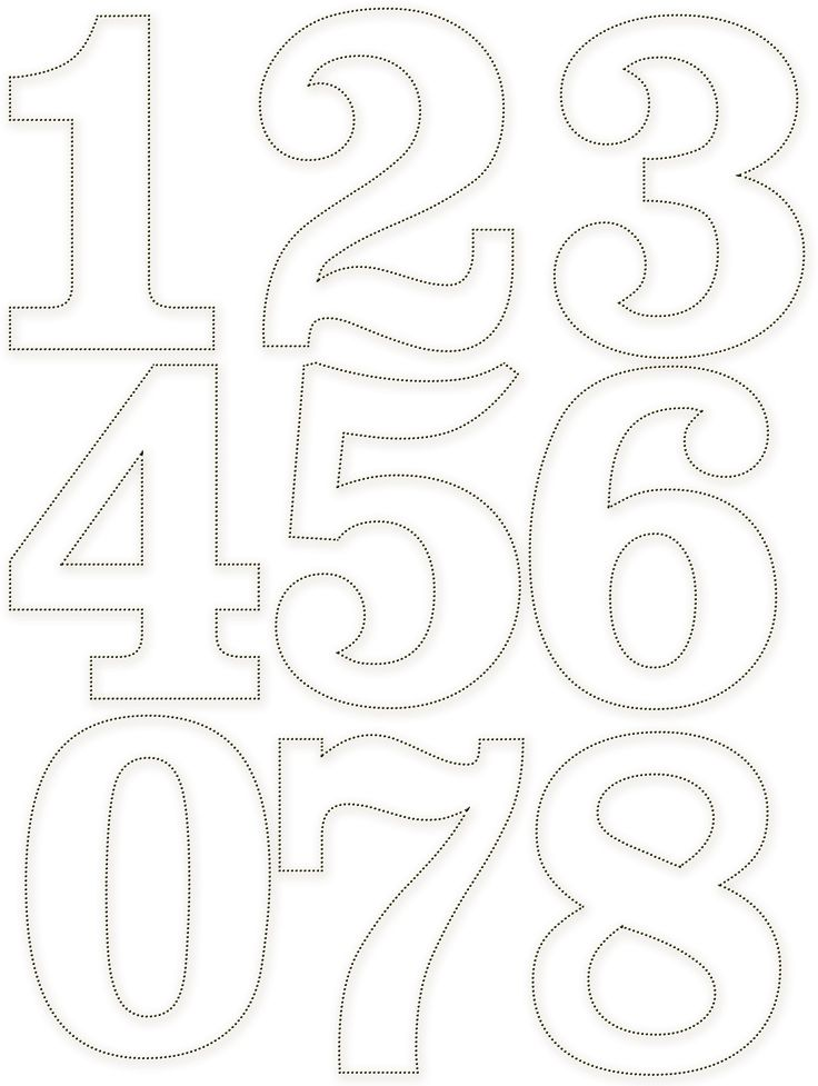 92 best images about stencils numbers on pinterest arabic words stencils and template