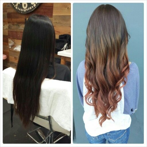 Before And After Rose Gold Ombre Hairbycourtneyfoster