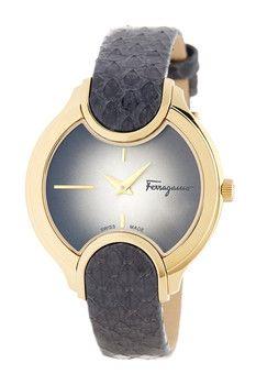 Salvatore Ferragamo Women's Signature Embossed Quartz Watch