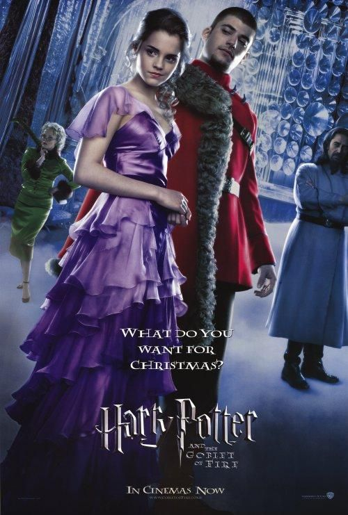 A handsome, famous quidditch player? Or a pretty dress? No, clearly a Harry Potter film.