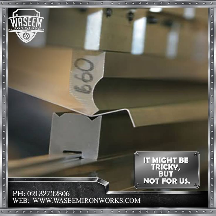 Bending sheet metal can be tricky, but with the right tool it's easy. At Waseem Iron works we keep everything checked.  Phone: 02132732806 Mobile: 03213874707 Fax: 02132726624 Email: contact@waseemironworks.com Web: www.waseemironworks.com  #WaseemIronWoks #engeneeringServices #MsIron #MsSteel #Galvanized #Aluminium #Welding #Fabrications #DecorativeIronWork #BespokeIronWork #GatesandRailings #LogBurners #ArchitecturalFixings #IndustrialWorks