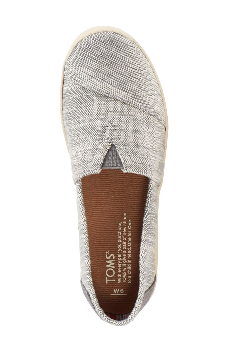 TOMS 'Avalon' Textured Woven Slip-On (Women) $59