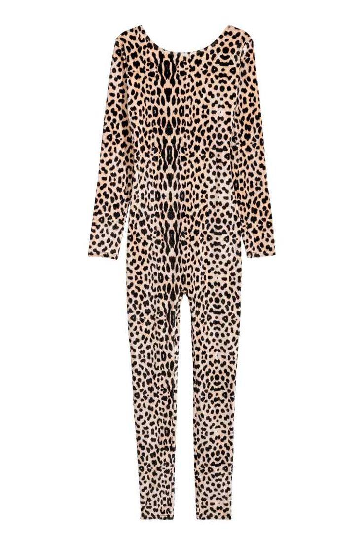 Costume de léopard en velours - Motif léopard - FEMME   H&M FR 1
