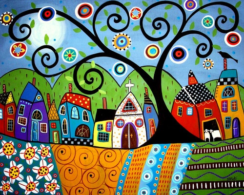 KARLA GERARD, USA: POLKA DOT CHURCH --- ART PRINT | eBay