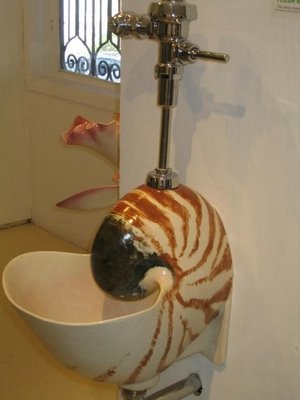Nautilus Urinal.  Not nice to pee on (in?) a work of art.