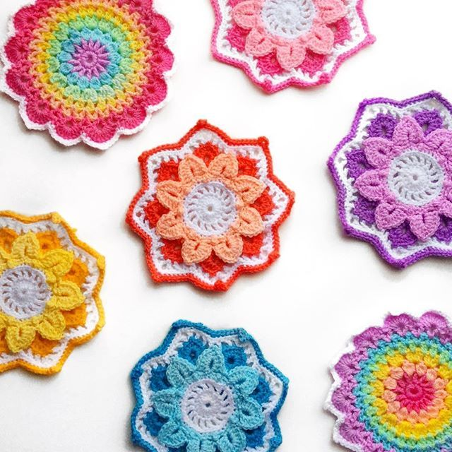 Not much crochet going on here today 🤒... so here's some colour! 🌈🌈🌈