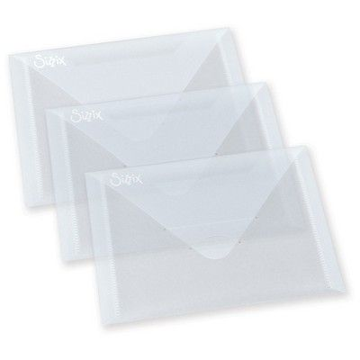 "Sizzix Plastic Envelopes-Clear 6.875""x5"", Light Clear"