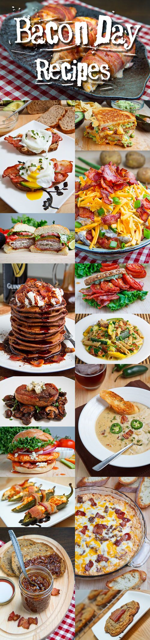 Bacon Day Recipes ~ OMG ~ Fantabulous recipes where bacon is the star ~ from Maple Bourbon Bacon Jam to Asparagus and Double Smoked Bacon Popovers & everything in-between ~ Enjoy!!!