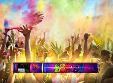Holi Powder Cannon - colored powder, safe and makes spectacular memories! Perfect for concerts or other large outdoor events.