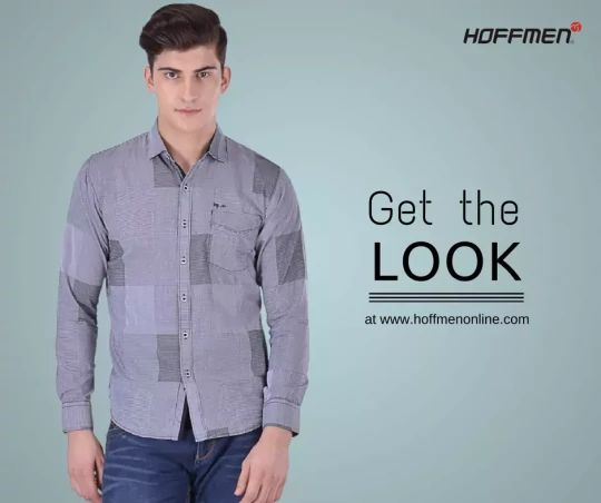 Go Casual with HOFFMEN. Buy this Slim-fit Cotton Casual Shirt at a discounted price. Check it out now: http://bit.ly/2ju0nR7