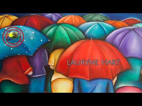 Lauryne Hart shares her wonderfully colourful and large paintings | Colour In Your Life - YouTube