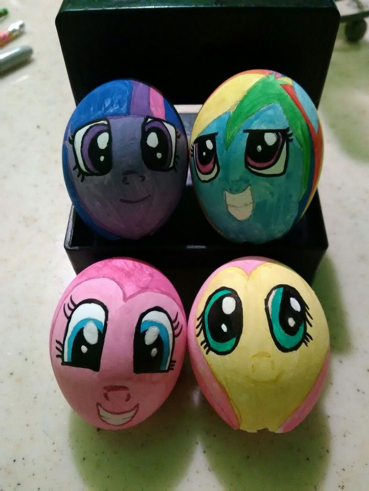 Huevos de pascua de my little pony